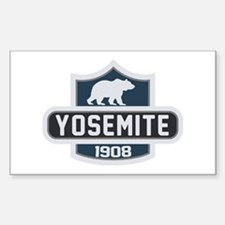 Yosemite Blue Nature Crest Sticker (Rectangle)