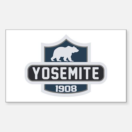 Yosemite Blue Nature Crest Sticker (Rectangle)