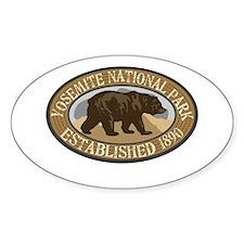 Yosemite Brown Bear Badge Decal