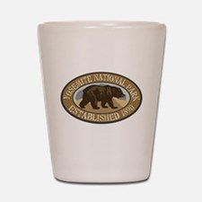 Yosemite Brown Bear Badge Shot Glass