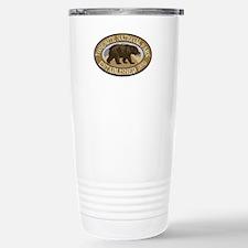 Yosemite Brown Bear Badge Travel Mug