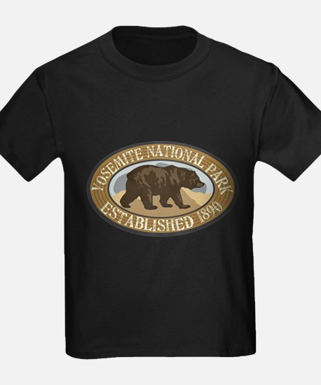 Yosemite Brown Bear Badge T