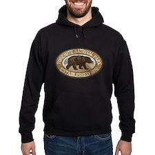 Yosemite Brown Bear Badge Hoodie