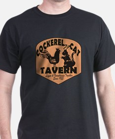 Cockerel N Cat Tavern T-Shirt