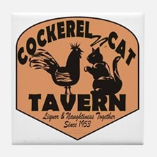 Cockerel N Cat Tavern Tile Coaster