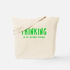 Super Power: Thinking Tote Bag