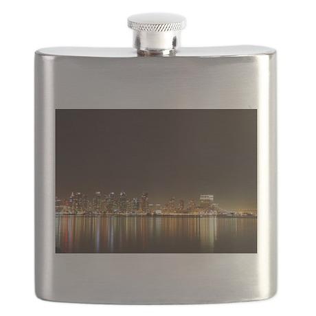 San Diego Skyline Night Flask