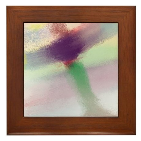 Healing Guardian Angel Light and Love Framed Tile