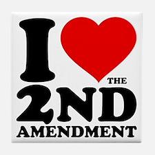 I Heart the 2nd Amendment Tile Coaster