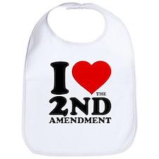 I Heart the 2nd Amendment Bib