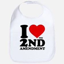 I Heart the 2nd Amendment Bib