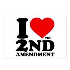 I Heart the 2nd Amendment Postcards (Package of 8)