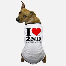 I Heart the 2nd Amendment Dog T-Shirt