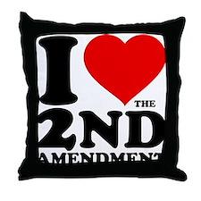 I Heart the 2nd Amendment Throw Pillow