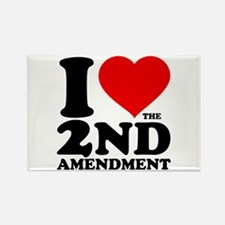 I Heart the 2nd Amendment Rectangle Magnet (10 pac