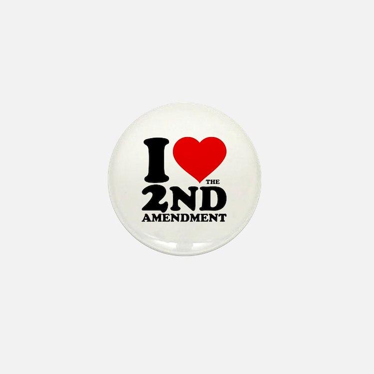 I Heart the 2nd Amendment Mini Button