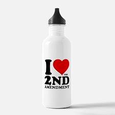 I Heart the 2nd Amendment Water Bottle