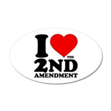 I Heart the 2nd Amendment 22x14 Oval Wall Peel