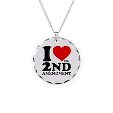 I Heart the 2nd Amendment Necklace