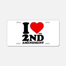 I Heart the 2nd Amendment Aluminum License Plate
