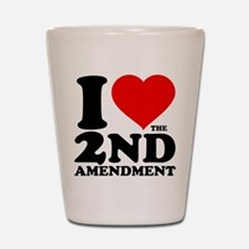 I Heart the 2nd Amendment Shot Glass