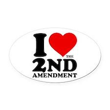I Heart the 2nd Amendment Oval Car Magnet