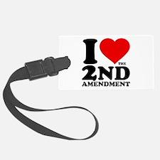 I Heart the 2nd Amendment Luggage Tag