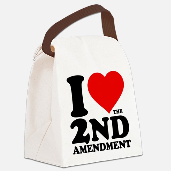 I Heart the 2nd Amendment Canvas Lunch Bag