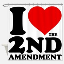 I Heart the 2nd Amendment Shower Curtain