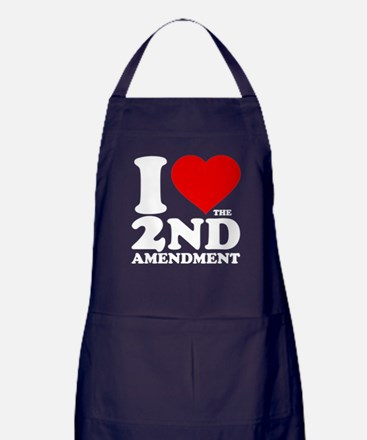 I Heart the 2nd Amendment Dark Apron