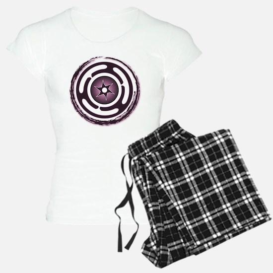 Purple Hecate's Wheel pajamas