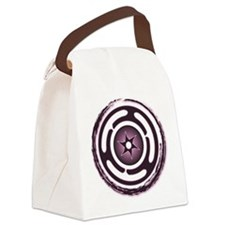 Purple Hecate's Wheel Canvas Lunch Bag