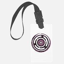 Purple Hecate's Wheel Luggage Tag