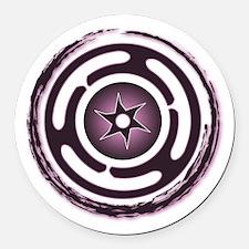 Purple Hecate's Wheel Round Car Magnet