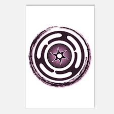 Purple Hecate's Wheel Postcards (Package of 8)