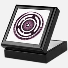 Purple Hecate's Wheel Keepsake Box