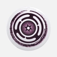 Purple Hecate's Wheel Ornament (Round)