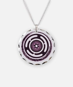 Purple Hecate's Wheel Necklace Circle Charm