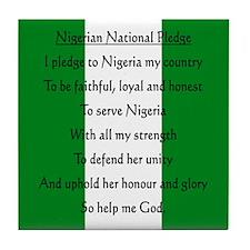 Nigerian Pledge Tile Coaster