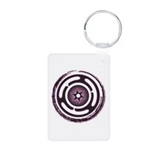 Purple Hecate's Wheel Aluminum Photo Keychain