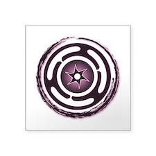 "Purple Hecate's Wheel Square Sticker 3"" x 3"""