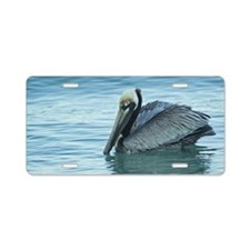 Unique Art pelican Aluminum License Plate