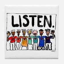 Listen Tile Coaster