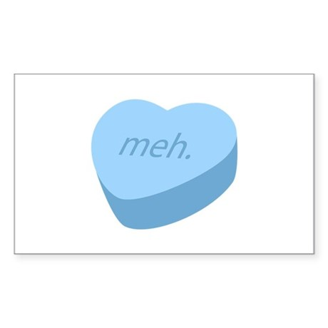 Meh_Heart_BL.png Sticker (Rectangle)