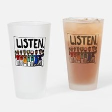 Listen Drinking Glass