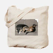 (2-SIDED) FMEL Dog Lovers Couch Tote Bag