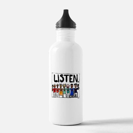 Listen Water Bottle