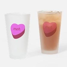 Meh_Heart.png Drinking Glass