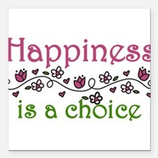 "Happiness Square Car Magnet 3"" x 3"""