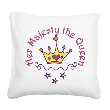 Her Majesty Square Canvas Pillow